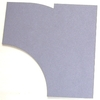 2-spuriger Abzweig Radius R1+R2 links