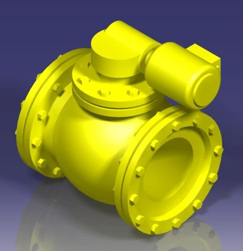 Spherical motor operated valve