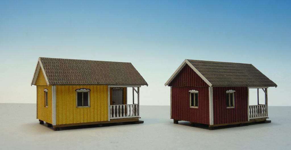 Gartenhaus mit Veranda schwedisch (gelb)   LaserCut Welten